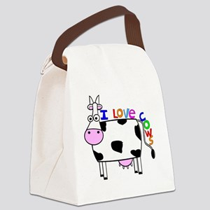 I love Cows KIDS Canvas Lunch Bag