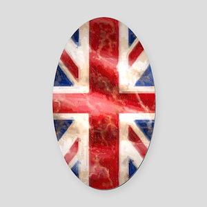 475 Union Jack Flag iPad 5 in 1 Oval Car Magnet
