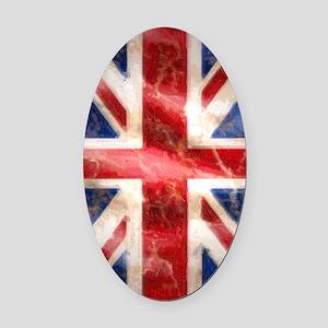 475 Union Jack Flag iPad 5 in 1 b Oval Car Magnet