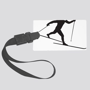 skinny ski blk Large Luggage Tag