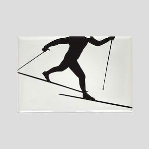 skinny ski blk Rectangle Magnet