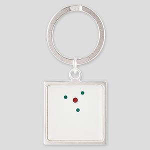 atom2 Square Keychain