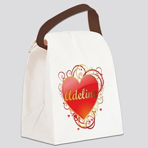 Adeline-Valentines Canvas Lunch Bag