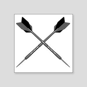 "crossed_darts Square Sticker 3"" x 3"""