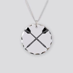 crossed_darts Necklace Circle Charm