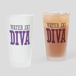 Water Ski DIVA Drinking Glass