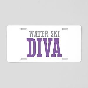 Water Ski DIVA Aluminum License Plate
