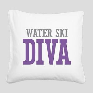 Water Ski DIVA Square Canvas Pillow