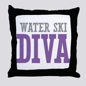 Water Ski DIVA Throw Pillow