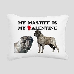 Valentine brindle mastif Rectangular Canvas Pillow
