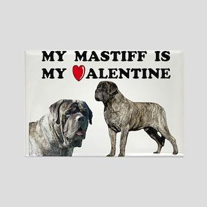 Valentine brindle mastiff Rectangle Magnet