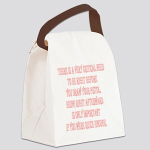 BE_RIGHT_2KX2K_WHITE Canvas Lunch Bag
