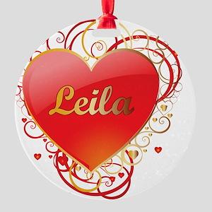 Leila-Valentines Round Ornament