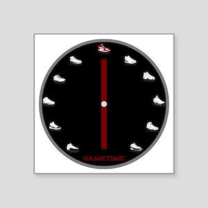 "Gametime Jordan Clock Square Sticker 3"" x 3"""