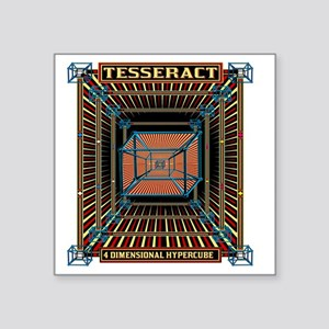 "TESSERACT_HYPERCUBE_c Square Sticker 3"" x 3"""