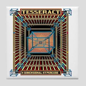 TESSERACT_HYPERCUBE_c Tile Coaster