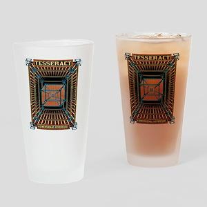 TESSERACT_HYPERCUBE_c Drinking Glass
