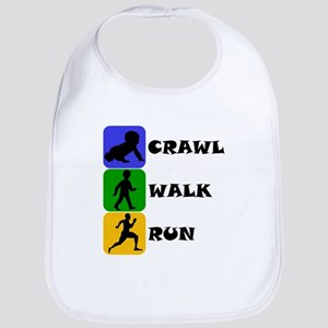 Crawl Walk Run Bib
