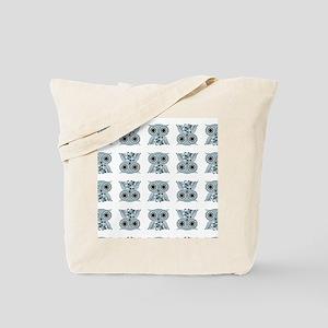LittleBlueOwl_patternipad Tote Bag