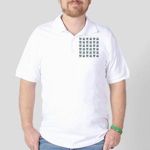 LittleBlueOwl_pattern Golf Shirt