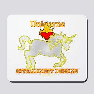 Unicorns LOVE (Heart) Intelligent Design Mousepad