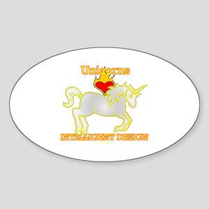 Unicorns LOVE (Heart) Intelligent Design Sticker (