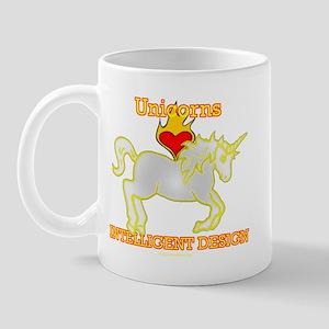 Unicorns LOVE (Heart) Intelligent Design Mug