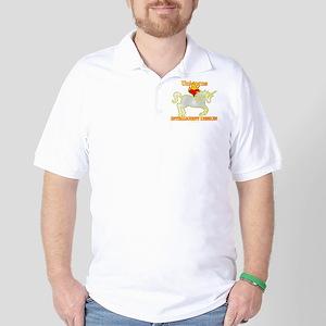 Unicorns LOVE (Heart) Intelligent Design Golf Shir