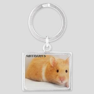 Hamster calendar cover Landscape Keychain