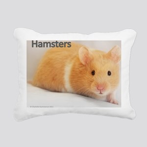 Hamster calendar cover Rectangular Canvas Pillow