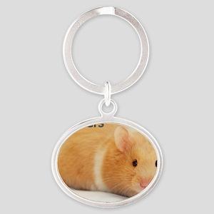 Hamster calendar cover Oval Keychain