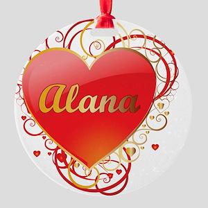 Alana-Valentines Round Ornament