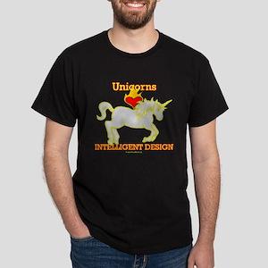 Unicorns LOVE (Heart) Intelligent Design Dark T-Sh