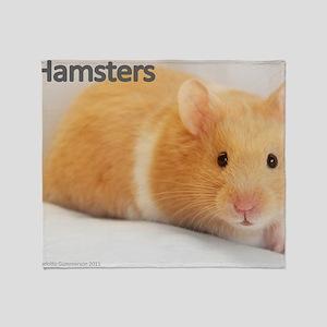 Hamster calendar cover Throw Blanket