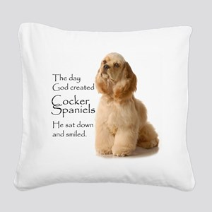 Cocker Spaniel Square Canvas Pillow