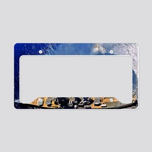 iowa framed panel print License Plate Holder