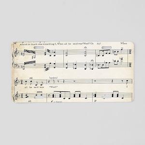 Laptop Skin - Vintage Music Aluminum License Plate