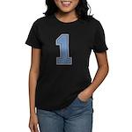 Blue #1 Women's Dark T-Shirt