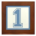 Blue #1 Framed Tile