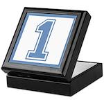 Blue #1 Keepsake Box