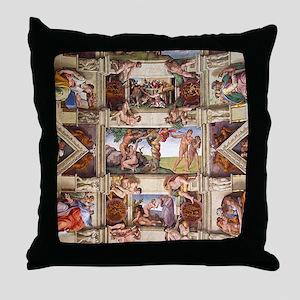 sistine-chapel-tile Throw Pillow