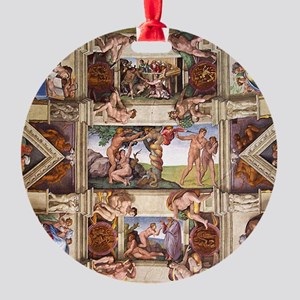 sistine-chapel-tile Round Ornament