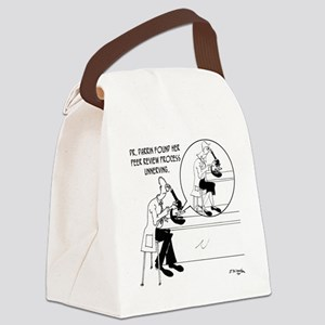 8707_science_cartoon Canvas Lunch Bag