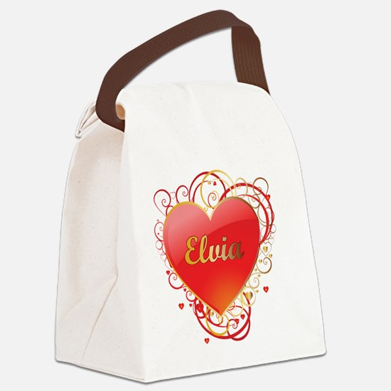 Elvia-Valentines Canvas Lunch Bag