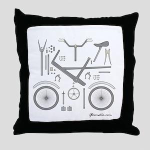 Bike Parts Large Throw Pillow