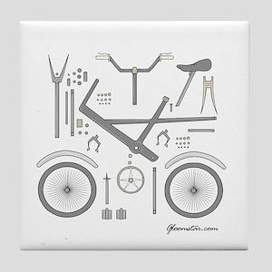 Bike Parts Large Tile Coaster