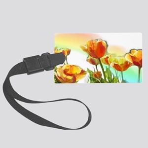 stainless 3by6 Large Luggage Tag
