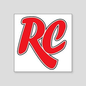 "RC_really_cool_white_sweats Square Sticker 3"" x 3"""