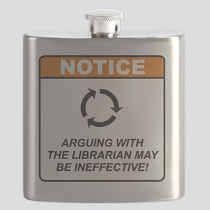 Librarian_Notice_Argue_RK2012_10x10 Flask