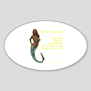 Mermaids - and the theory of evolution Sticker (Ov